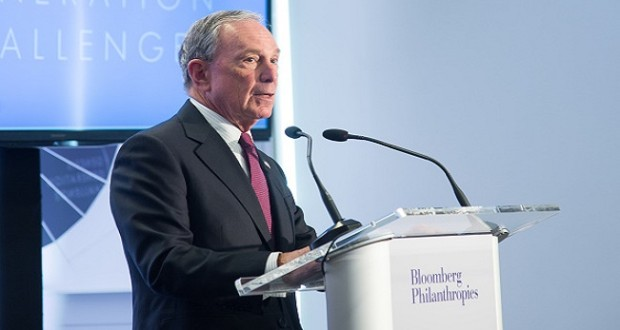 "NEW YORK, NY - APRIL 28:  Former New York City Mayor Michael Bloomberg attends the ""Genesis Generation Challenge"" at Bloomberg Philanthropies on April 28, 2015 in New York City.  (Photo by Mark Sagliocco/Getty Images)"