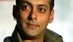 """Bollywood star Salman Khan listens to a question from a journalist during the music release of his forthcoming Indian movie """"Phir Milenge"""" (Shall Meet Again), in Bombay May 25, 2004. The movie, a love story set in the backdrop of AIDS, is slated for release in July."""