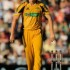 Australia's Josh Hazlewood reacts