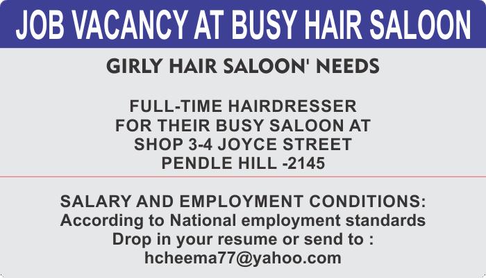 FULL-TIME HAIRDRESSER NEEDED